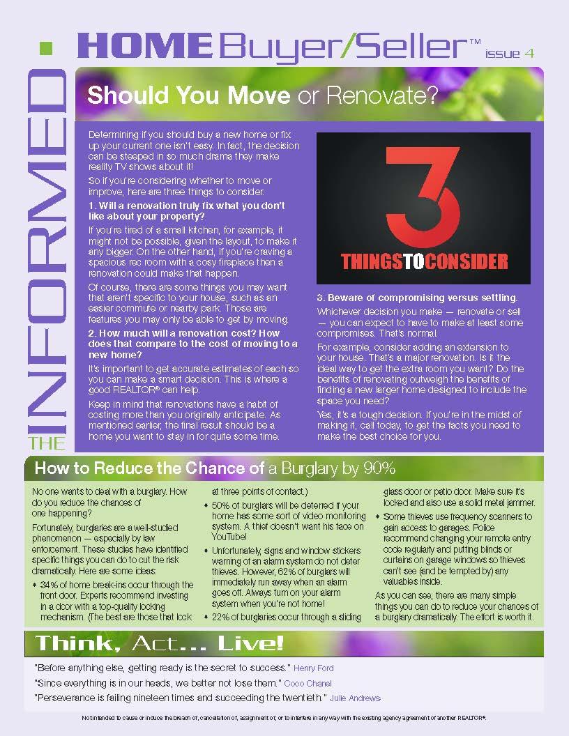 Informed Home Buyer April 16