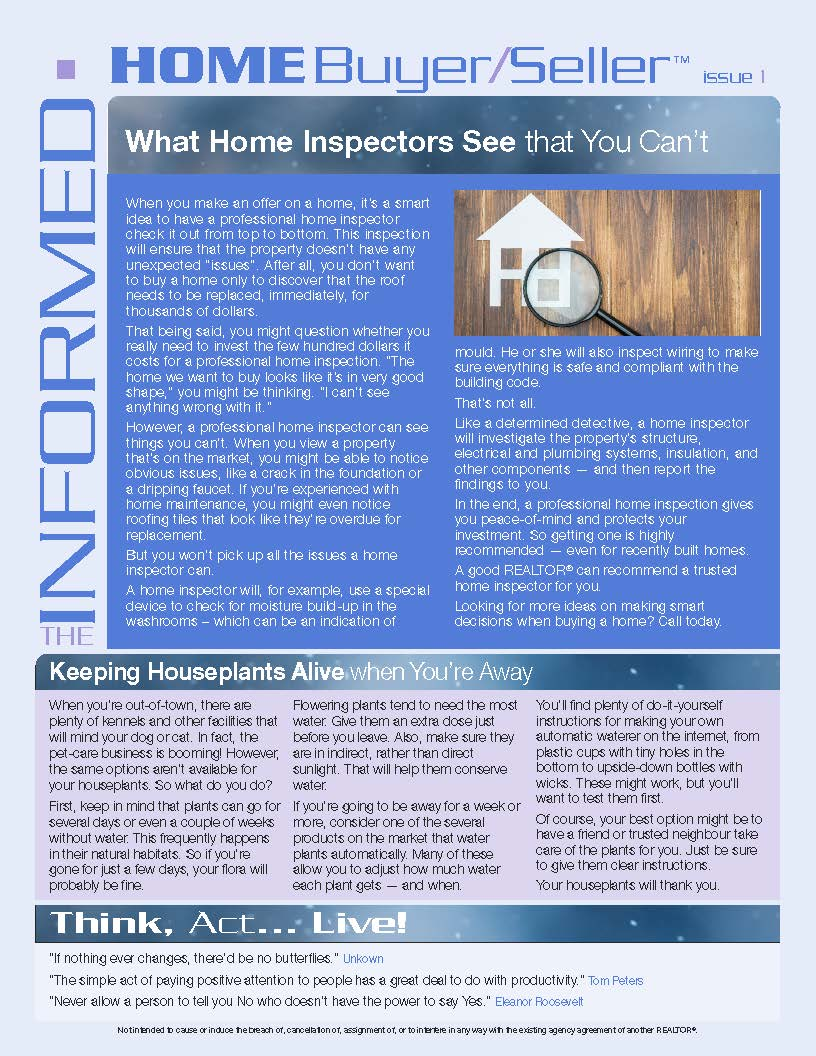 Informed Home Buyer January 16
